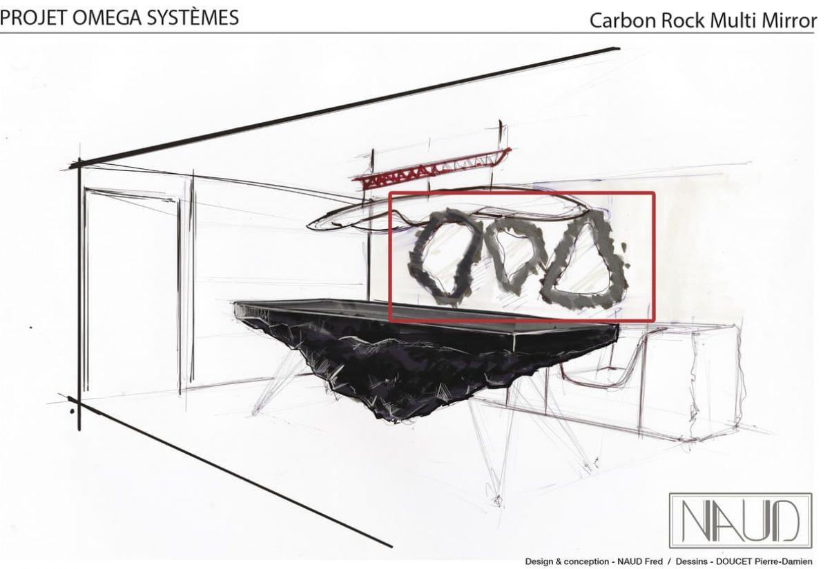 Planche à dessin pour la réalisation d'oeuvres fonctionnelles dans le cadre d'un projet de recyclage de déchets carbone aéronautique