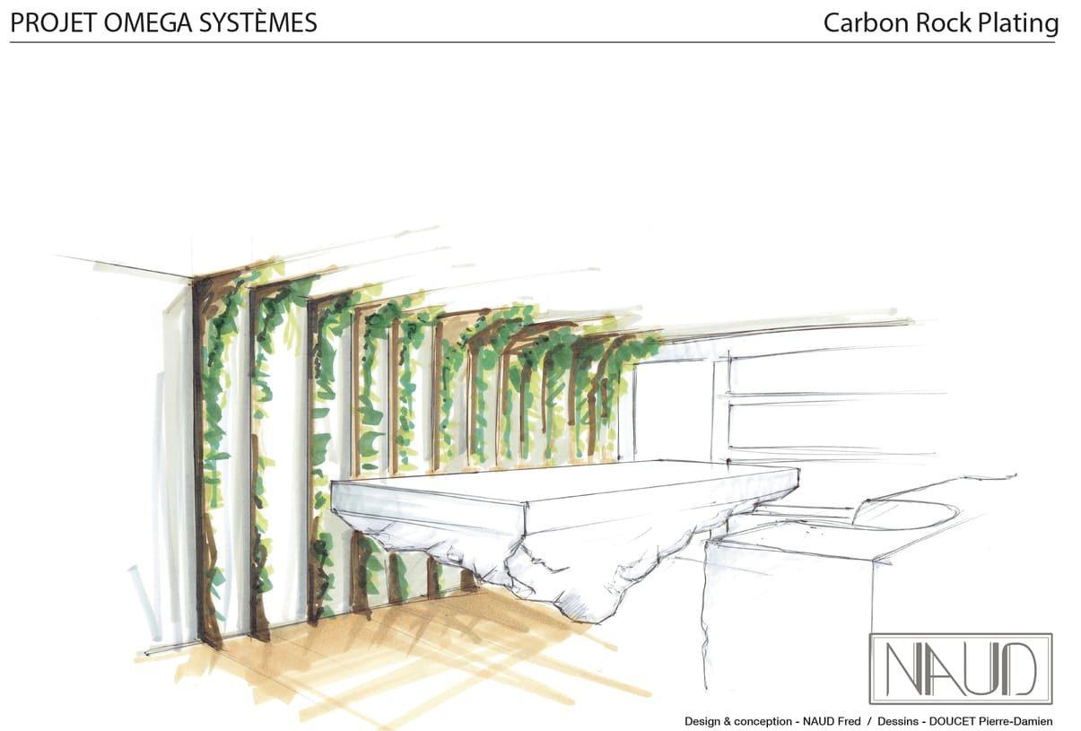 Planche de dessin d'une perspective du rendu de la réalisation des oeuvres fonctionnelles du projet ColeopteR